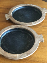 Rustic Wooden and Metal Bowls