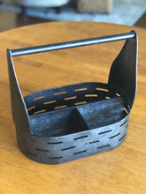 Oval Divided Metal Caddy