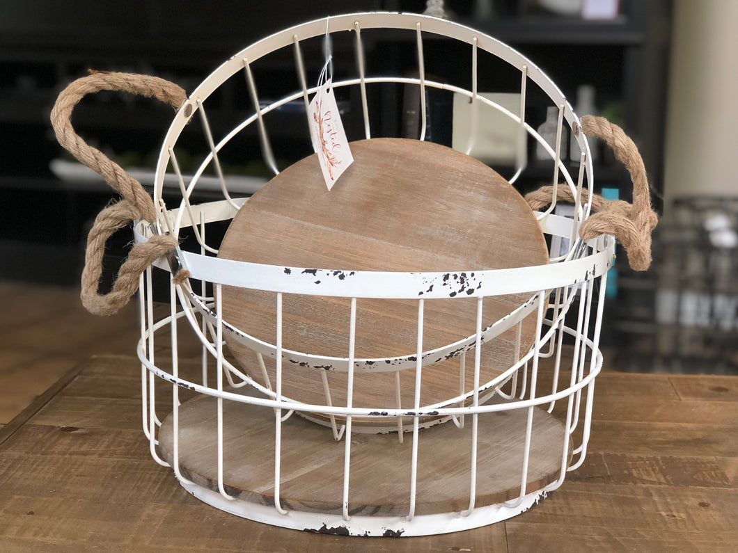 Egg Basket with Rope Handles