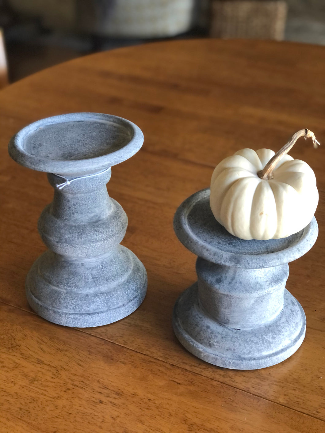 Ceramic Pillar Holders Set of 2