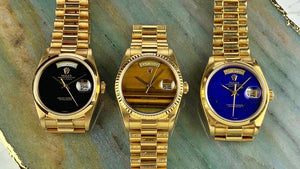 Vintage watches are a good investment. But the investment is in yourself. We like Vintage Gold Da-Date Presidential Watches.