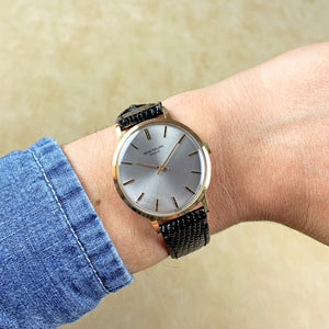 Patek Philippe 18K Yellow Gold Calatrava Manual Wind Vintage Watch with Grey Dial | Veralet