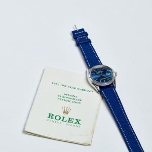 Rolex Stainless Steel Oyster Perpetual Blue Sigma Date Vintage Watch | Veralet