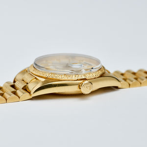 Rolex 18K Yellow Gold Champagne Doorstep Day-Date President Vintage Watch | Veralet