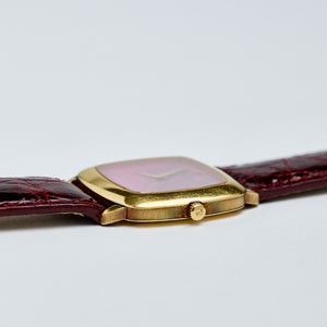 Piaget 18K Yellow Gold Rhodonite Cushion Dress Vintage Watch | Veralet