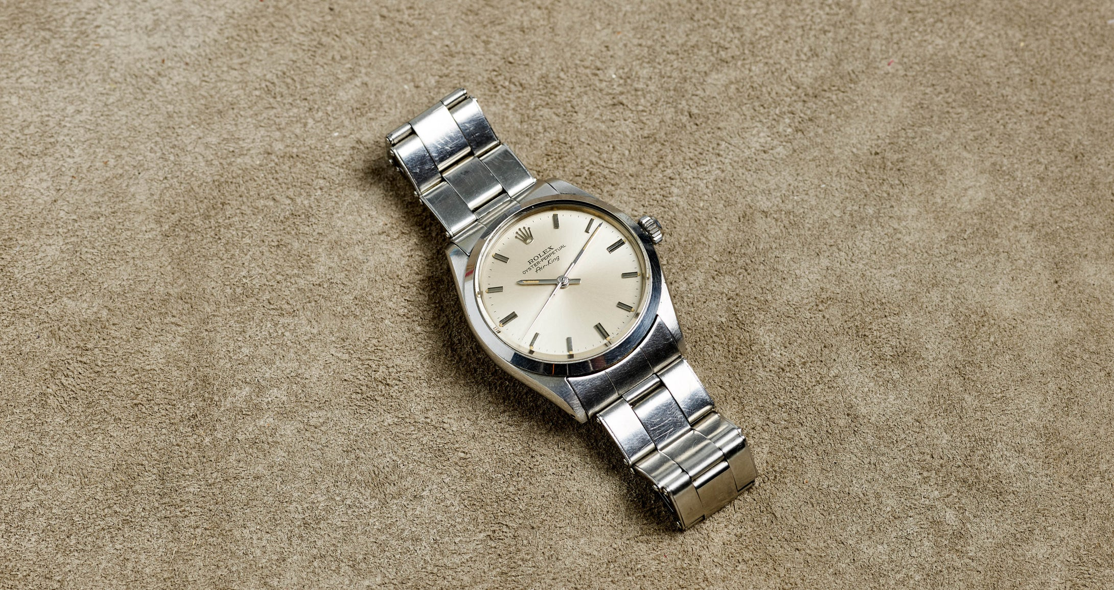 Rolex Stainless Steel Oyster Perpetual Silver Air-King Vintage Watch | Veralet