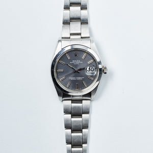 Rolex Stainless Steel Oyster Perpetual Grey Sigma Date Vintage Watch | Veralet