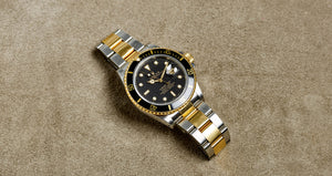 Rolex Two-Tone Black Gloss Submariner Vintage Watch | Veralet