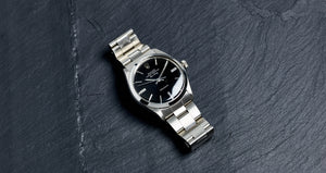 Rolex Stainless Steel Oyster Perpetual Black Gloss Air-King Vintage Watch | Veralet