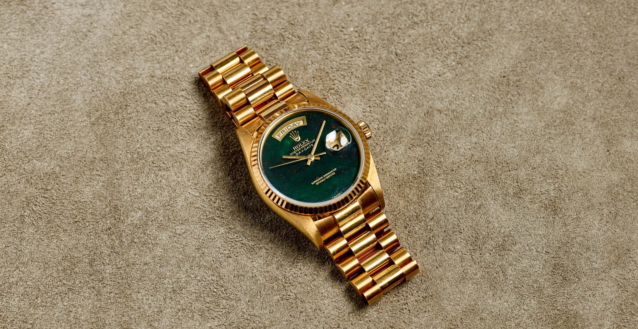 Rolex 18K Yellow Gold Oyster Perpetual Day-Date