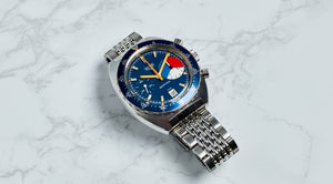 Heuer Stainless Steel Three Color Automatic Skipper Yachting Chronograph Vintage Watch | Veralet