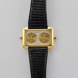 Bvlgari 18K Yellow Gold Manual Wind Dual Time Zone Vintage Watch | Veralet