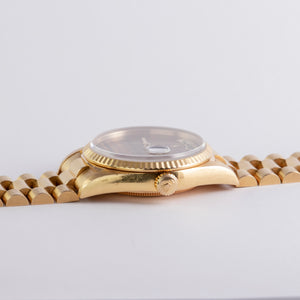 Rolex 18K Yellow Gold Oyster Perpetual Tiger's Eye Day-Date Watch | Veralet