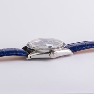 Rolex Stainless Steel Oyster Perpetual Blue Matte Date Vintage Watch | Veralet