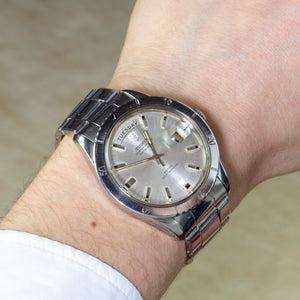 Tudor Stainless Steel Prince Oyster Date Day Automatic Watch