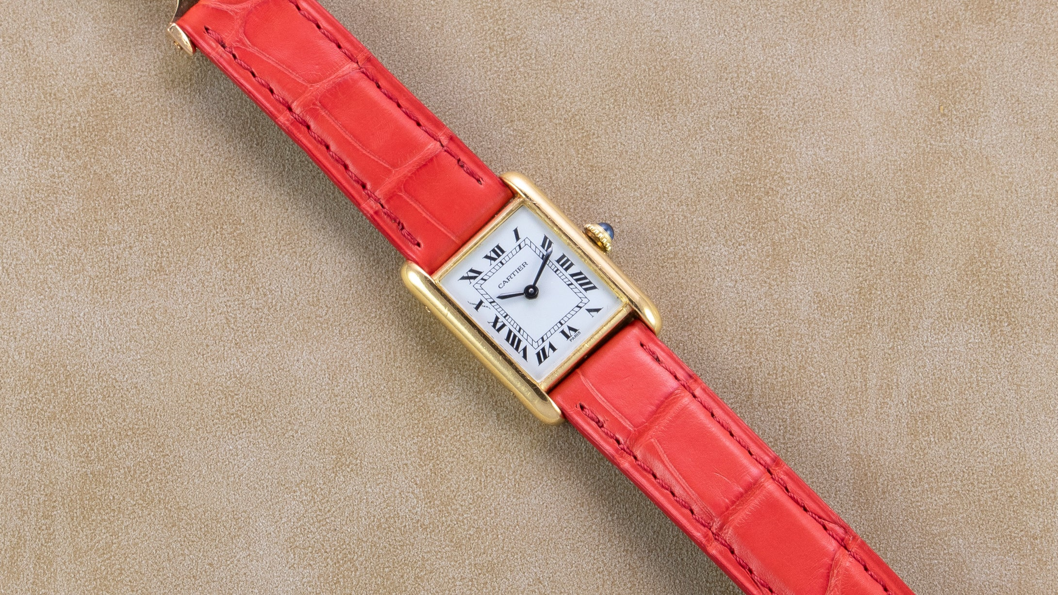 Cartier 18K Yellow Gold Tank Louis Manual Wind Vintage Watch | Veralet