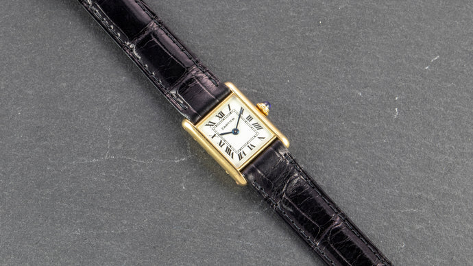 Cartier 18K Yellow Gold Ladies Tank Manual Wind Vintage Watch | Veralet