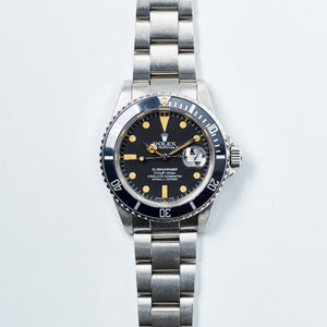 Rolex Stainless Steel Black Matte Submariner Vintage Watch | Veralet