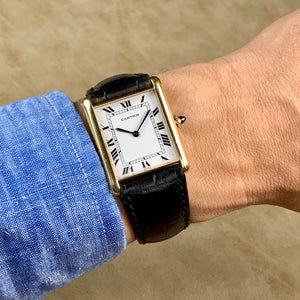 Cartier 18K Yellow Gold Tank Jumbo Automatic Vintage Watch | Veralet