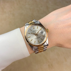 Rolex Two-Tone Oyster Perpetual Date Vintage Watch with Jubilee Bracelet | Veralet