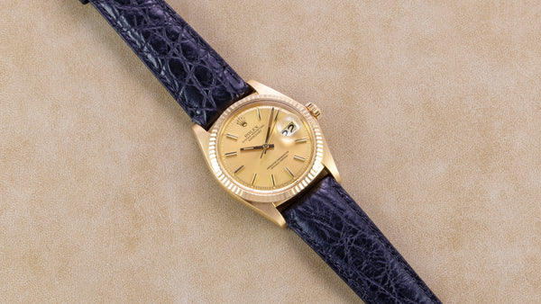 Rolex 18K Yellow Gold Marigold Datejust Vintage Watch | Veralet
