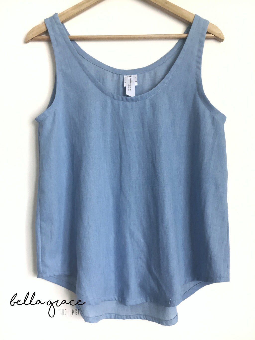 Basic Tank in Soft Denim