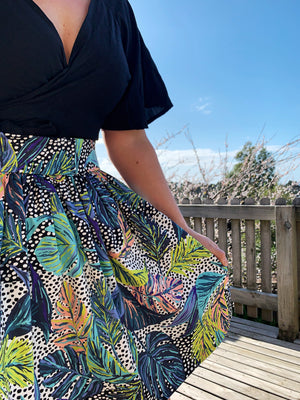 Signature Skirt in Spring Fusion