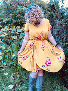 Amie Dress in Mustard