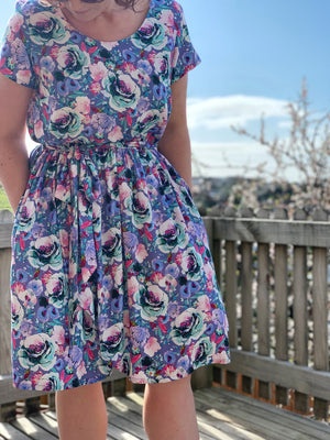 Amie Dress in Spring Fusion