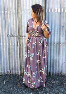 Penelope Wrap Dress in Mauve