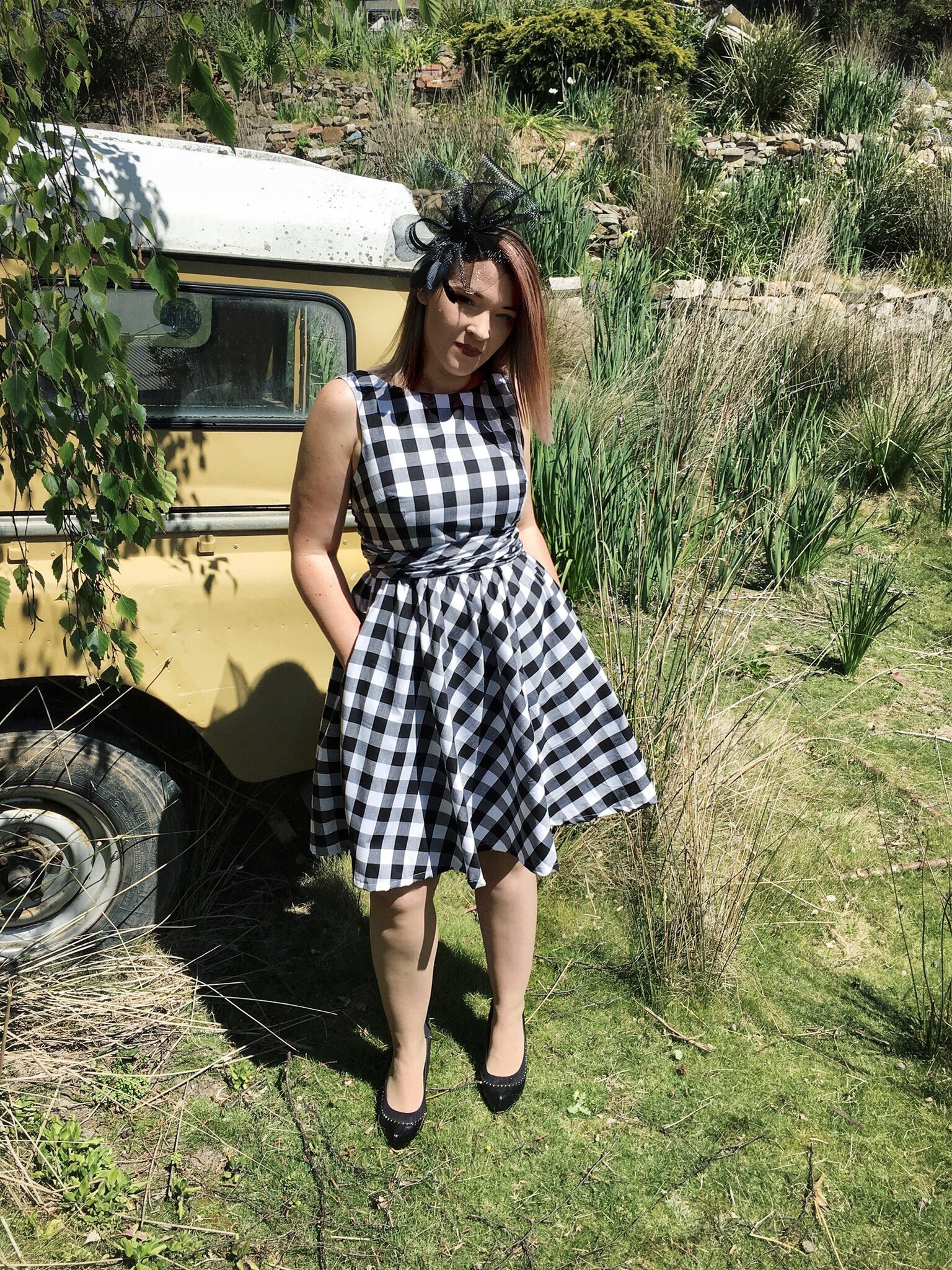 Once Upon a Dream Dress in Gingham
