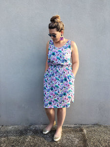 Basic Dress in Linen Blend Katrina Floral