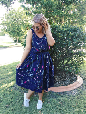 Limited Edition Embroidered Denim Dress