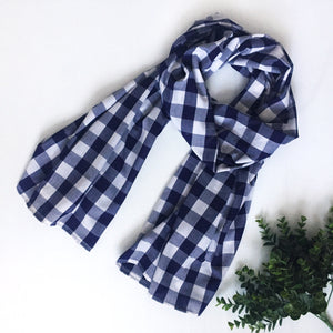 XL Scarf - Blue check