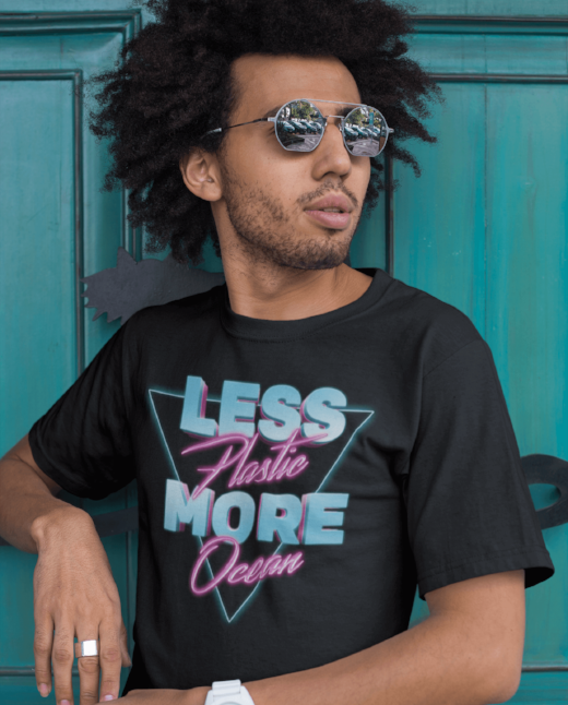 Clean Ocean Less Plastic T Shirt