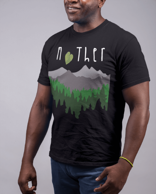 Mother Nature T Shirt Men's Clean Earth Clothing