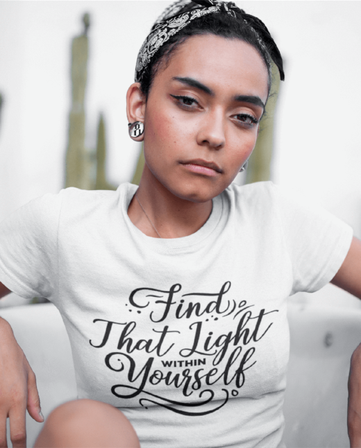 Find that light within yourself dope t shirt casual festival fashion top
