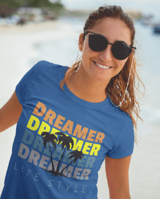 Dreamer Lifestyle - Ladies Printed T-shirt For Sale | Theawakenwave
