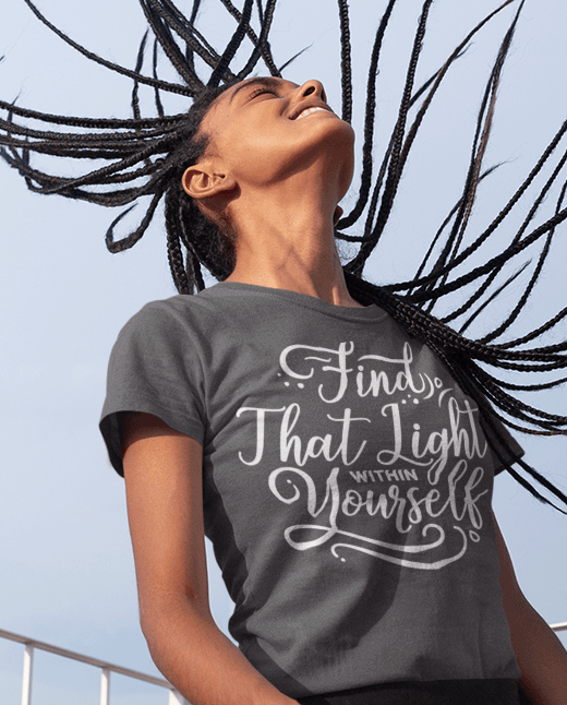 Find That Light Within - Women T-Shirts On Special | Theawakenwave