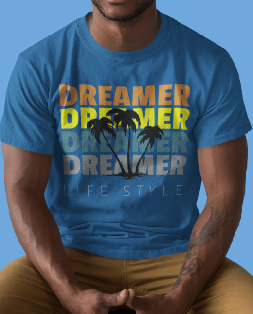 Dreamer Men's dope fashion t shirt clothing motivational