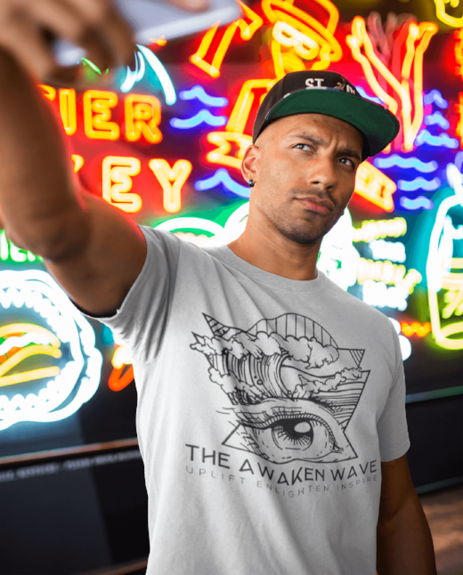 The Awaken Wave Unique Fashion Men's Clean Planet T Shirt