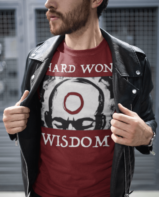 Hard Won Wisdom Men's Hipster Clothing Cool T Shirt