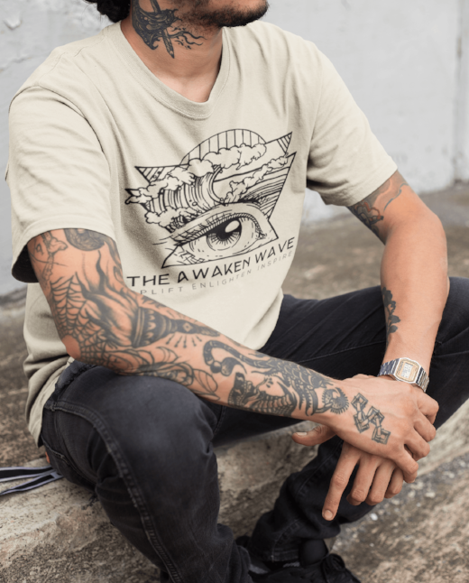 The Awaken Wave Clean Earth Men's T Shirts