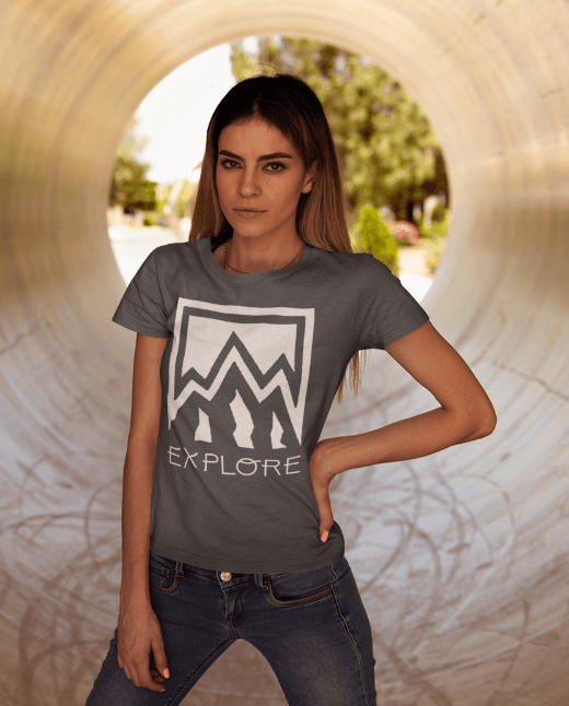 Explore Nature Women's Festival Fashion Graphic T Shirt