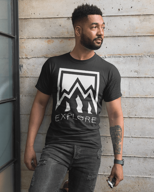 explore nature hiker men's hipster t shirt
