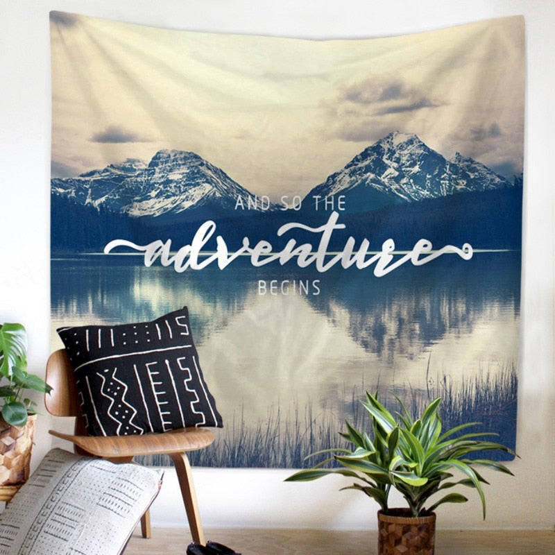 Adventure Begins Tapestry - Wall Decor For Sale | Theawakenwave