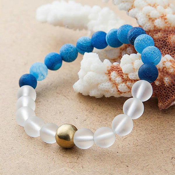 Blue Planet Reminder - Beaded Bracelet For Sale | Theawakenwave