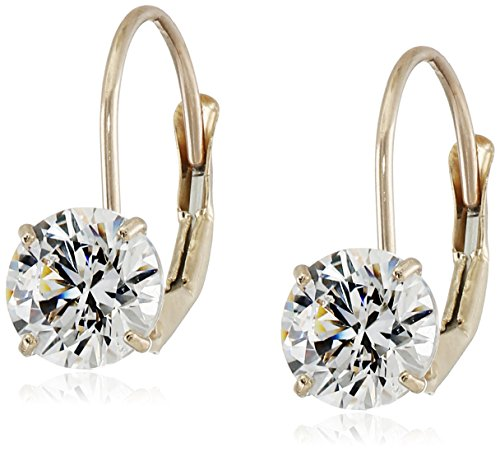 83e35709e08e 10k Gold Swarovski Zirconia Dangle Earrings (2