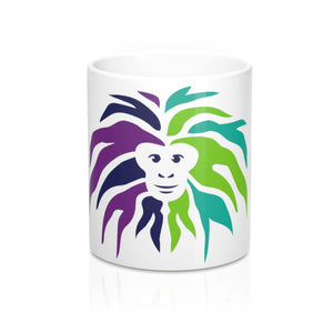 Mug 11oz - Color Fuzzy Monkey Head