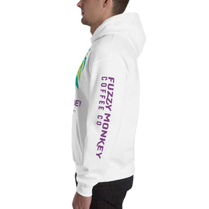 Hooded Sweatshirt - Purple Text
